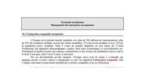 L'intégration comptable européenne