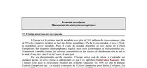 L'intégration bancaire européenne