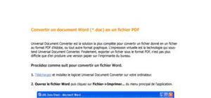 Astuce pour word 2007