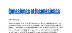 Conscience et inconscience