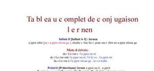 Tableau de conjugaison du verbe lernen