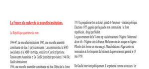 La France à la recherche de nouvelles institutions.