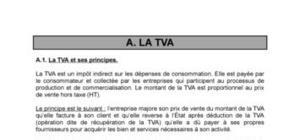 La TVA et ses principes
