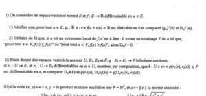 Examen Calcul Différentiel