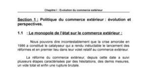Evolution du commerce extérieur en algérie