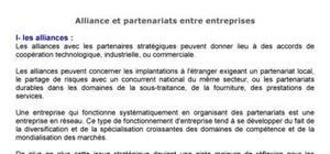 Alliance et partenariat entre entreprises