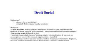 Droit Social (droit du travail et protection sociale)
