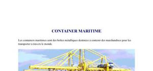 Les containers maritimes