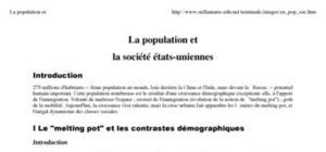 La population et la société états-uniennes