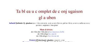 Tableau de conjugaison du verbe glauben