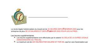 La durée du travail en France