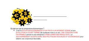 La conjoncture économique