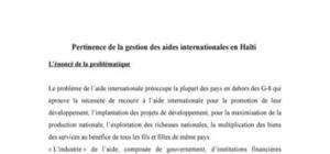 Gestion de l'aide internationale