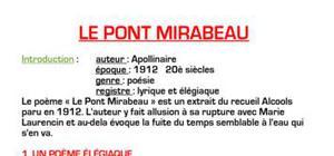 Le Pont Mirabeau d'Apollinaire
