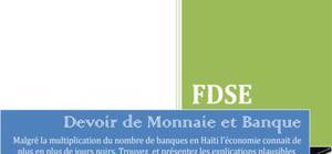 La place des banques dans l'économie Haïtienne : devoir de Monnaie et Banque
