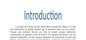Consolidation des comptes