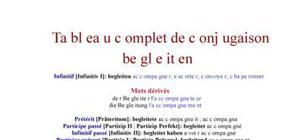 Tableau de conjugaison du verbe begleiten