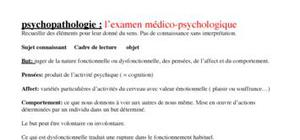 Psychopathologie : l'examen médico-psychologique
