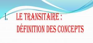 Transitaire : concepts , fonctions et documents de travail