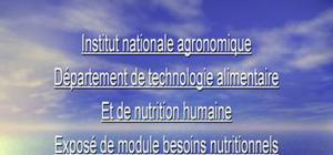 Besoin en azote et acide aminée
