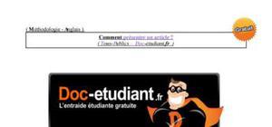 Méthodologie : Comment présenter un document en Anglais