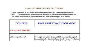 le plan comptable marocain detailler