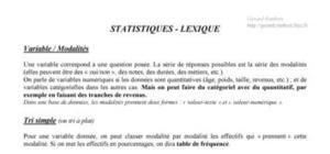 Des statistiques basiques à l'analyse des correspondances