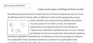 Bourdieu : espace social et symbolique