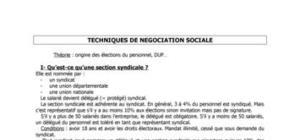 Techniques de négociations sociales