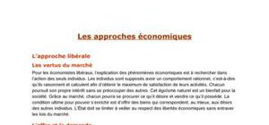 Les approches économiques