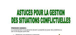 Gestion des situations conflictuelles