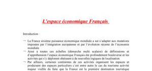 L'espace économique francais