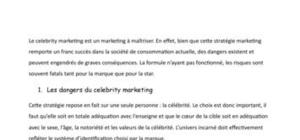 Les retombées du celebrity marketing