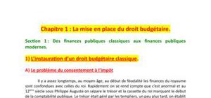 La mise en place du droit budgétaire