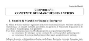 Le marché des capitaux