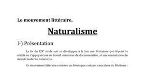 Le mouvement littéraire du naturalisme