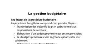 Gestion budgétaire(des vente,de production,d'approvisionnement)
