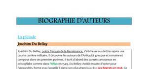 Biographies auteurs classiques bac français