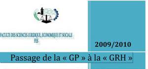 Passage de la GP (Gestion du Personnel) à la GRH (Gestion des Ressources Humaines)