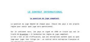 Le Contrat international