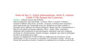 Lettre philosophique sur le commerce, Voltaire