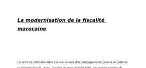 La modernisation de la fiscalité marocaine