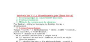 Le divertissement par Blaise Pascal