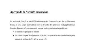 La fiscalité marocaine