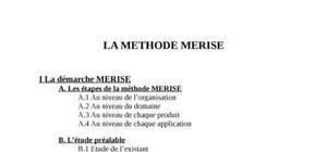 Document sur la démarche Merise