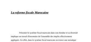 La réforme fiscale Marocaine