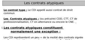 Les contrats atypiques