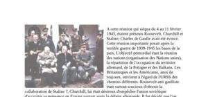 Les accords de Yalta février 1945