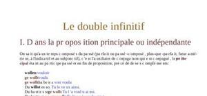 Le double infinitif allemand