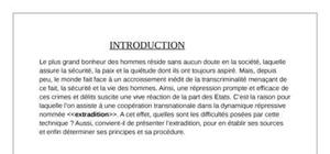 L'extradition